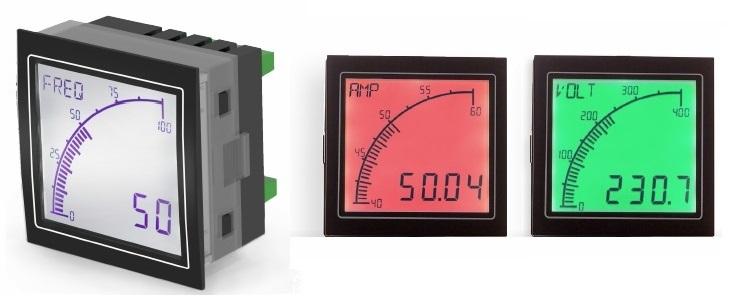 Overview Panel Meter on Volt Amp Meter Panel